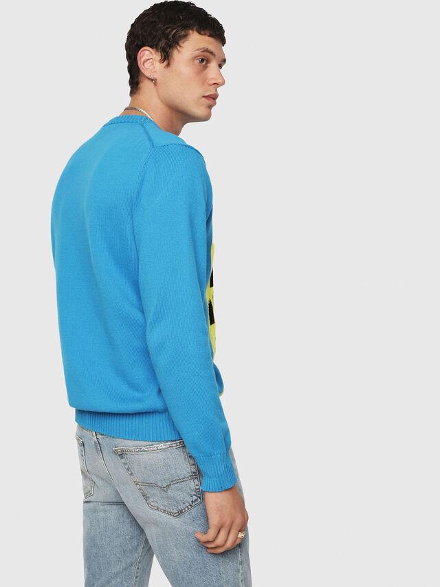 Diesel - K-MAXIS-A, Blue/Yellow - Knitwear - Image 2