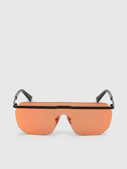 Diesel - DL0259, Orange/Black - Sunglasses - Image 1