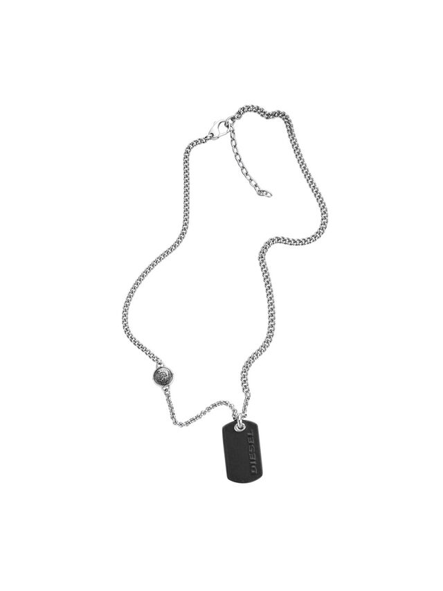 Diesel NECKLACE DX1012, Silver - Necklaces - Image 1