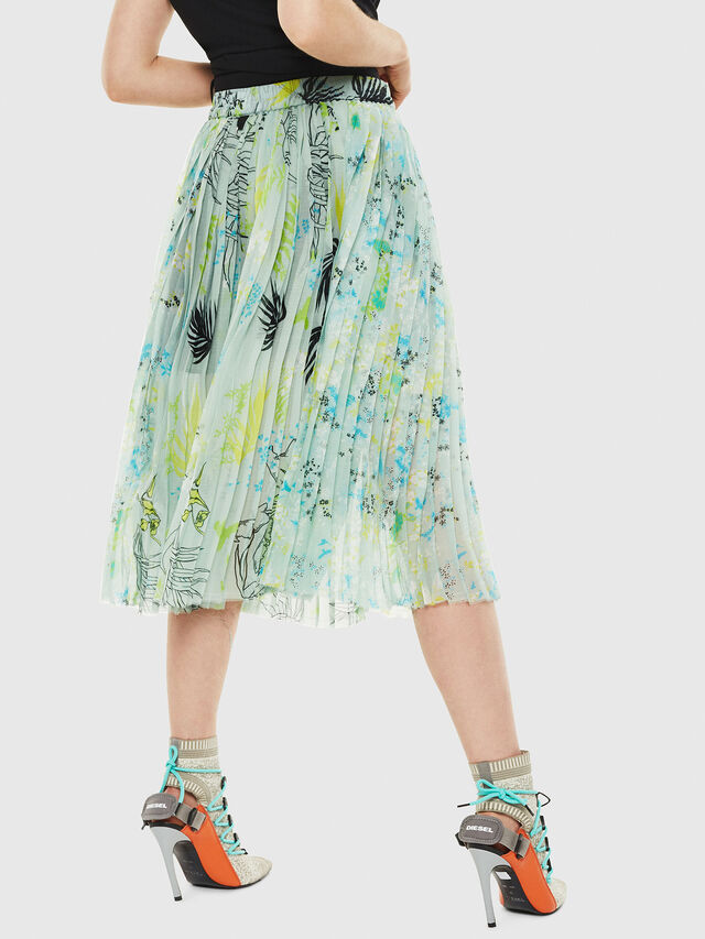 Diesel - O-PLIZ, Water Green - Skirts - Image 2