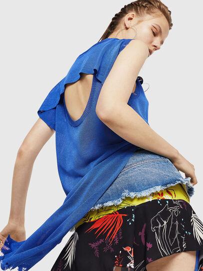 Diesel - M-LONG, Light Blue - Knitwear - Image 4