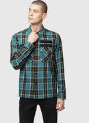 S-TAKESHI, Blue/Green - Shirts