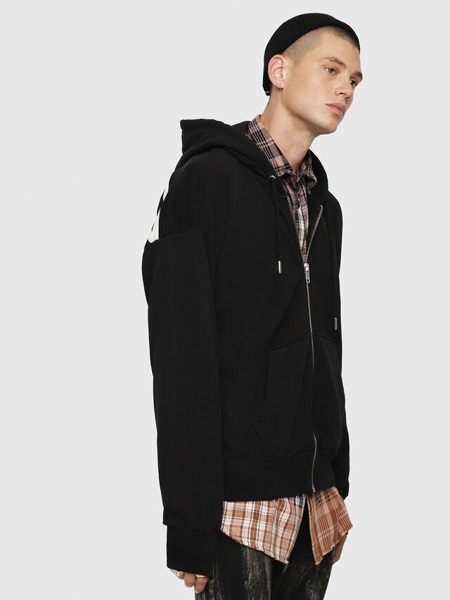 Diesel - S-ALBY-ZIP-YB, Black - Sweaters - Image 3