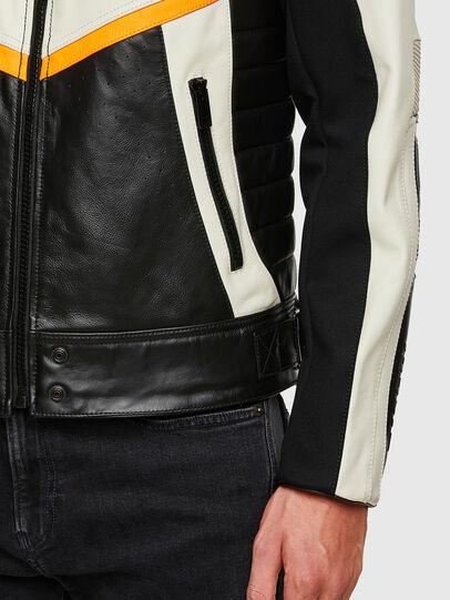 Diesel - ASTARS-LDUE-B, Black - Leather jackets - Image 7