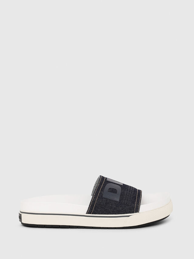 Diesel - SA-GRAND SLIDE W, White/Blue - Sandals - Image 1