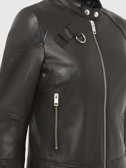 Diesel - L-SUZA, Black - Leather jackets - Image 4