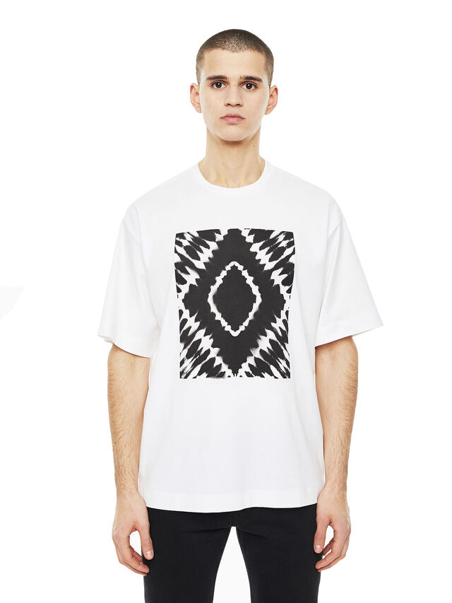 Diesel - TEORIA-TIEDYESQUARE, White - T-Shirts - Image 1
