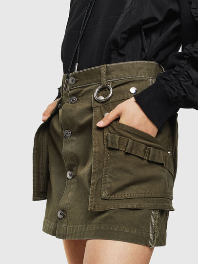 Diesel - O-LADEL, Military Green - Skirts - Image 3