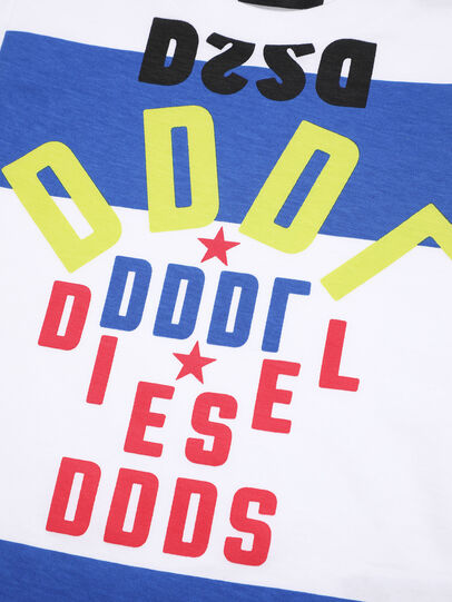 Diesel - TOLIB-R, White/Blue - T-shirts and Tops - Image 3