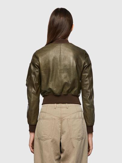 Diesel - L-ELIA, Olive Green - Leather jackets - Image 2