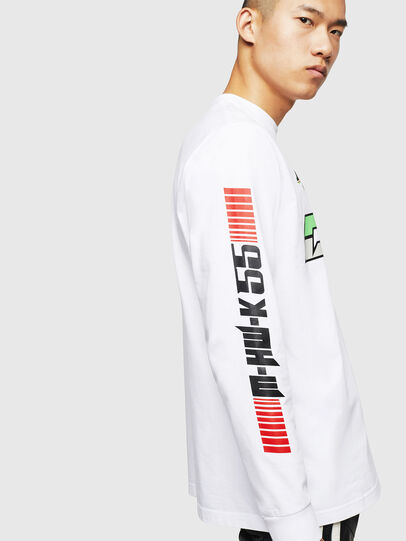 Diesel - ASTARS-T-JUST-LONG, White - T-Shirts - Image 5