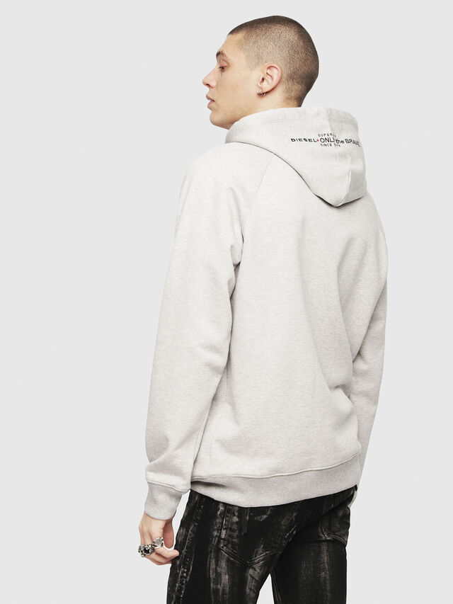 Diesel - S-GIM-HOOD-A, Light Grey - Sweaters - Image 2