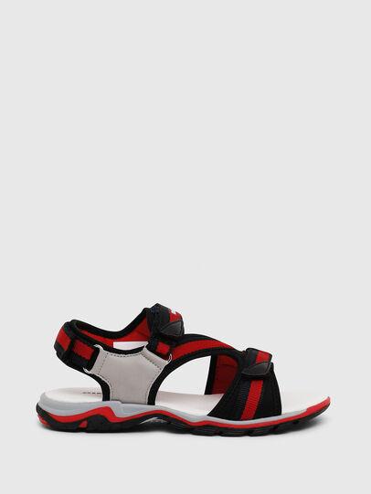 Diesel - SA 07 STRIPE YO, Grey/Red - Footwear - Image 1