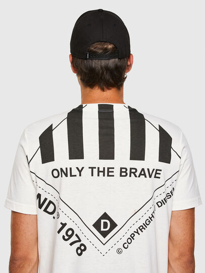 Diesel - T-JUST-N40, White - T-Shirts - Image 7