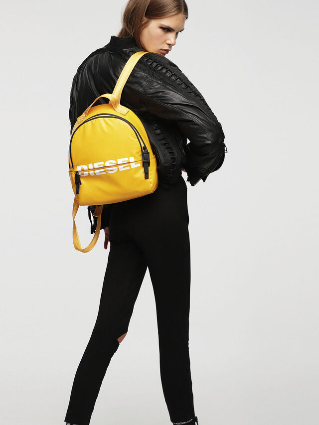 Diesel - F-BOLD BACK FL, Yellow - Backpacks - Image 4