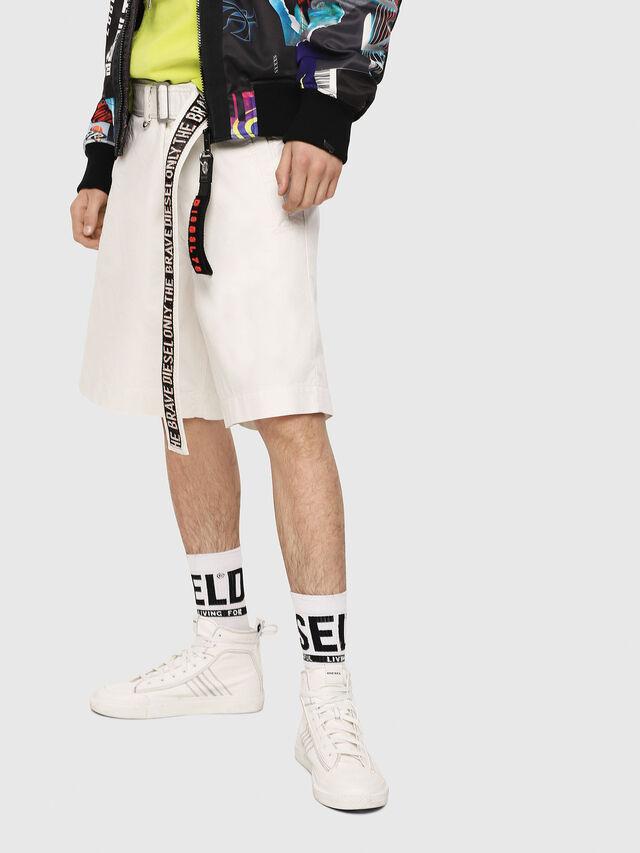 Diesel - P-TOSHI-SHORT, White - Shorts - Image 1