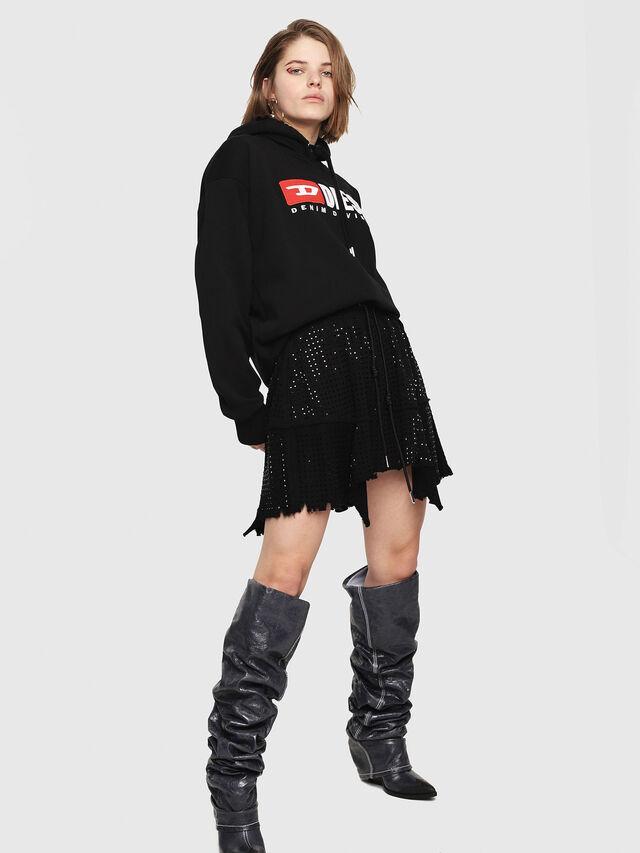 Diesel - O-CRYS, Black - Skirts - Image 4