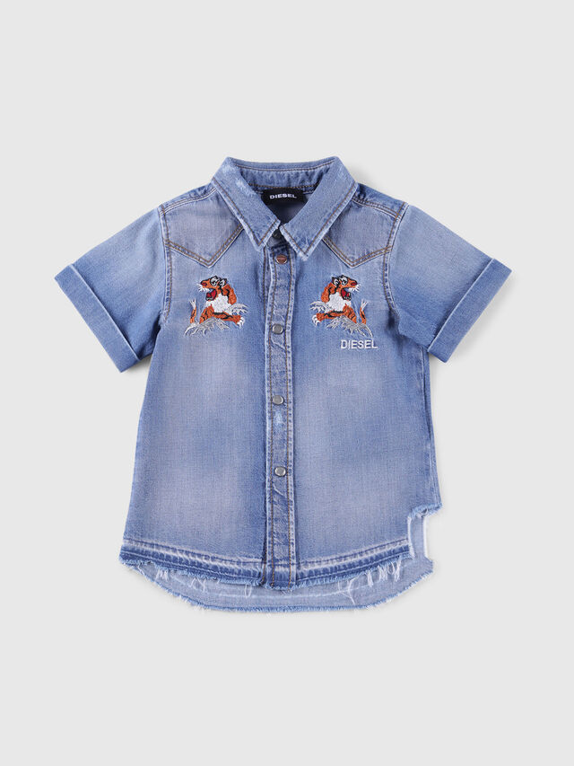 Diesel - CATTOB, Blue Jeans - Shirts - Image 1