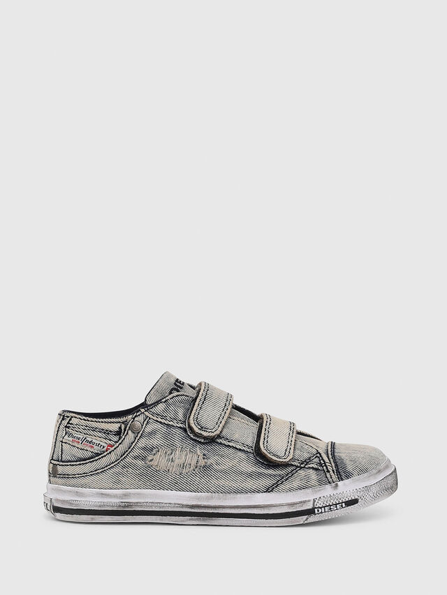 Diesel - SN LOW 11 STRAP  DEN, Grey Jeans - Footwear - Image 1