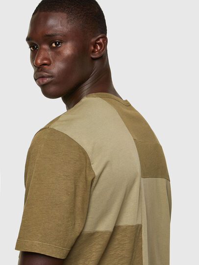 Diesel - T-ATCHWORK, Military Green - T-Shirts - Image 4