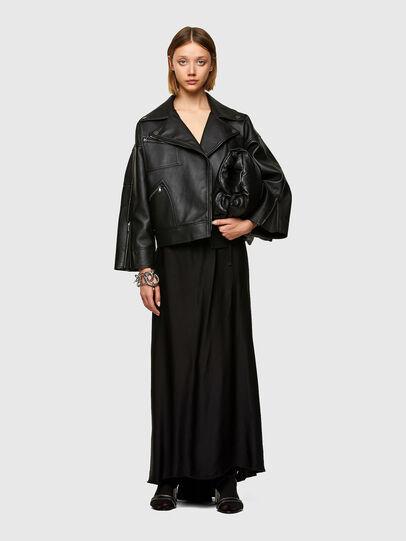 Diesel - L-HAZEL, Black - Leather jackets - Image 6