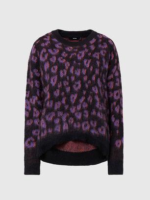M-RHONDA, Violet/Black - Knitwear