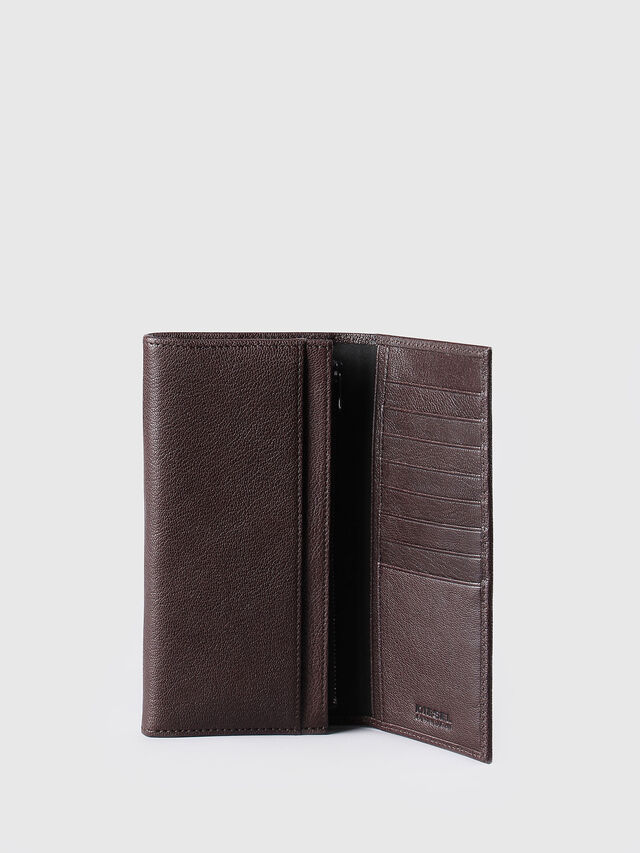 Diesel - 24 A DAY, Brown - Continental Wallets - Image 4