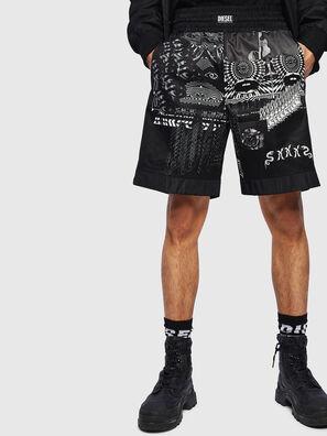 P-KUMI-PRINT-A, Black - Shorts