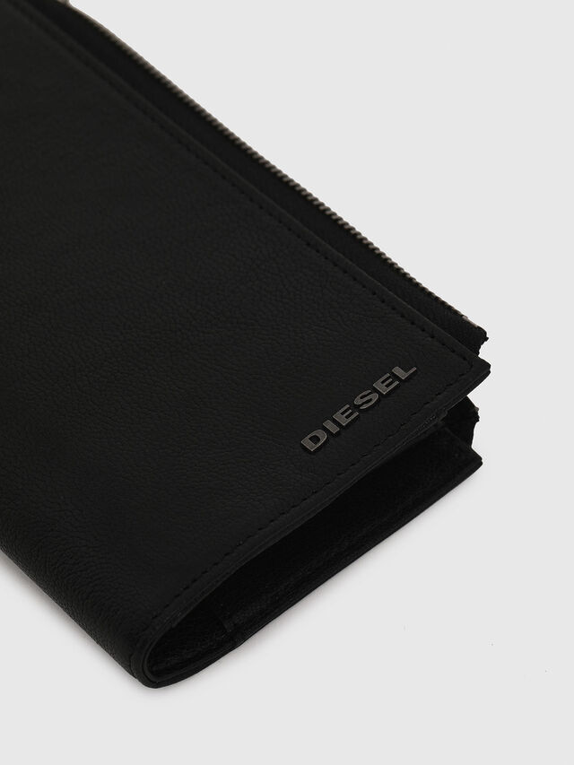 Diesel - L-24ZIP, Black - Zip-Round Wallets - Image 4