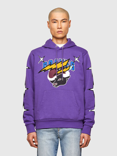 Diesel - CL-S-GIRK-HOOD-O1, Violet - Sweaters - Image 1