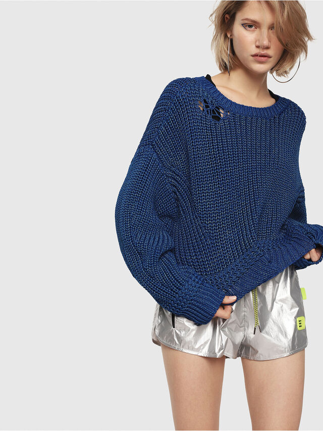 Diesel - M-BABI, Brilliant Blue - Knitwear - Image 1