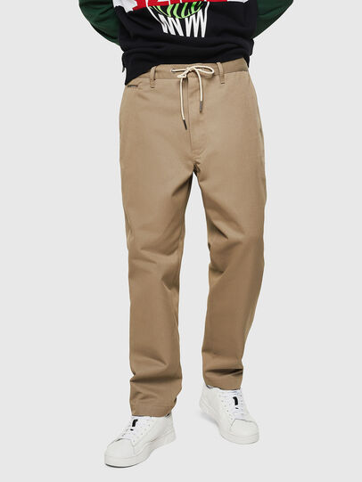 Diesel - P-MORGY, Light Brown - Pants - Image 1
