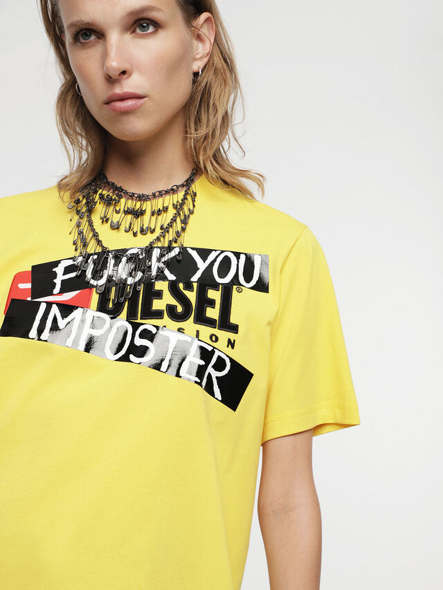 Diesel - HC-T-JUST-DIVISION-B, Yellow - T-Shirts - Image 8