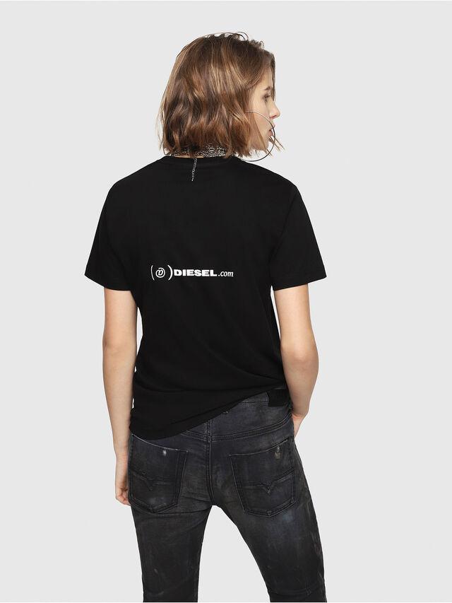 Diesel - CL-T-GADIE, Black - T-Shirts - Image 4
