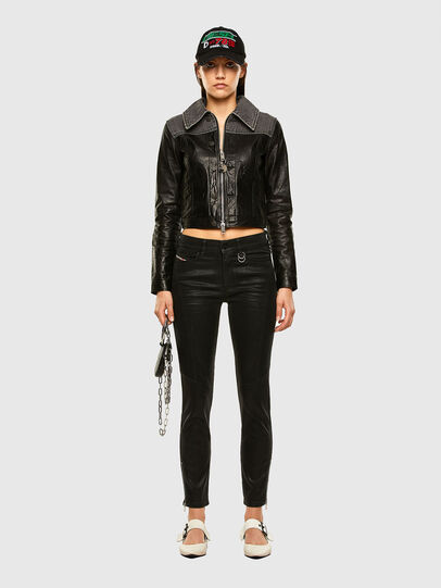 Diesel - L-LYLE, Black - Leather jackets - Image 5
