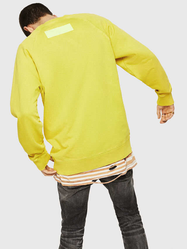 Diesel - S-RODD, Yellow Fluo - Sweaters - Image 2