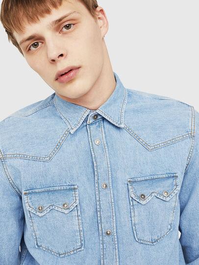 Diesel - D-LEO, Blue Jeans - Denim Shirts - Image 4