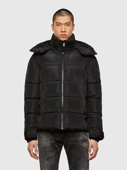 Diesel - W-RUSSELL-WH, Black - Winter Jackets - Image 1