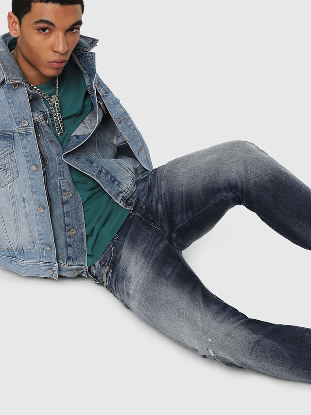 Diesel - D-Bazer 084DD, Dark Blue - Jeans - Image 4