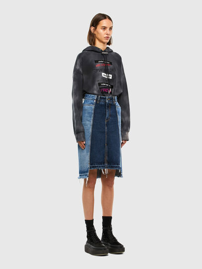 Diesel - DE-PAU-SP, Medium blue - Skirts - Image 7
