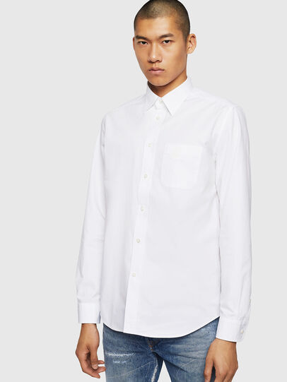 Diesel - S-MOI-R-BW, White - Shirts - Image 1