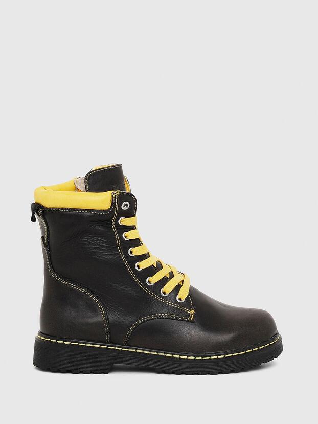 HB LACE UP 04 CH, Black - Footwear