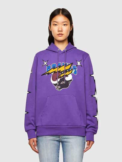Diesel - CL-S-GIRK-HOOD-O1, Violet - Sweaters - Image 2