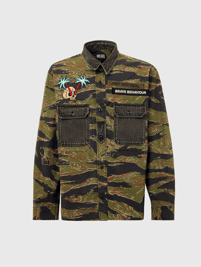 Diesel - S-BUNNELL-CMF, Military Green - Shirts - Image 6