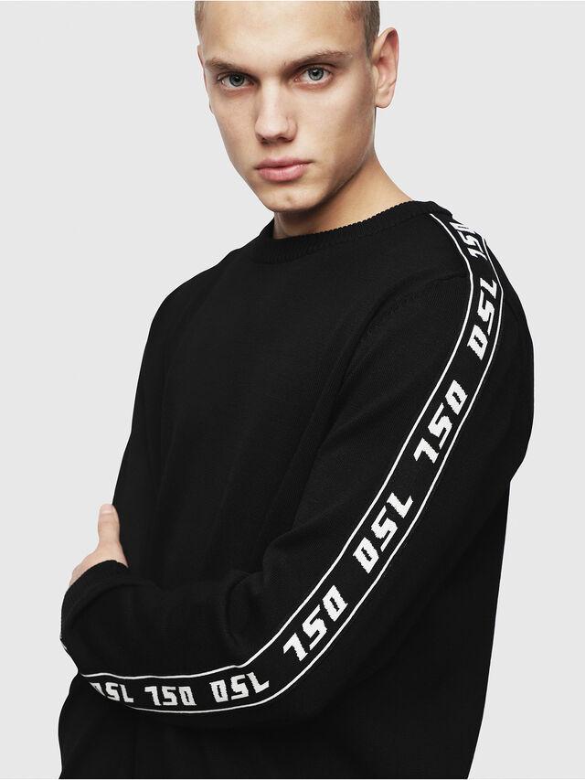 Diesel - K-TRACKY-A, Black - Knitwear - Image 3