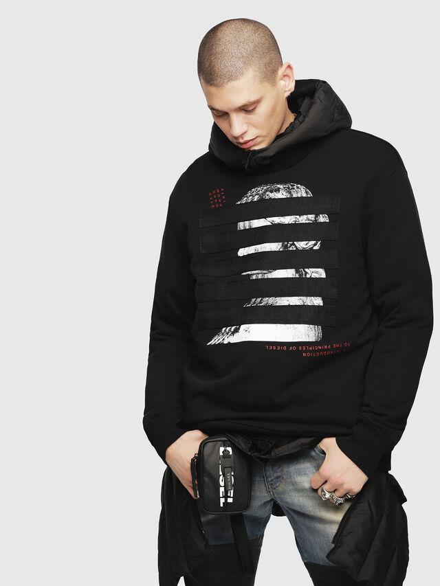 Diesel - W-SUN-REV-A, Black - Winter Jackets - Image 3
