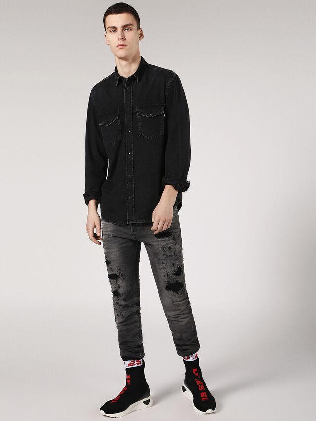 Diesel - D-ROOKE, Black Jeans - Denim Shirts - Image 4