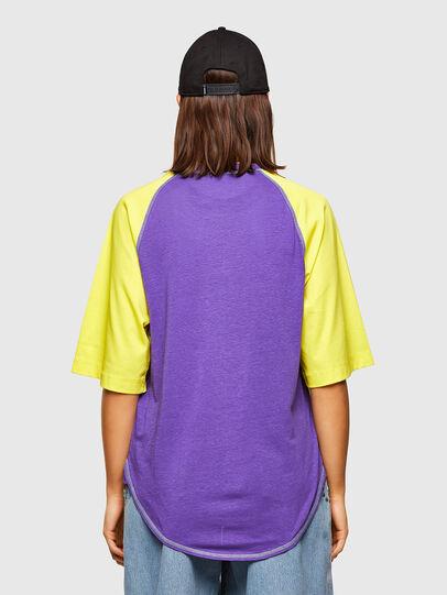 Diesel - T-SPO, Violet/Yellow - T-Shirts - Image 2