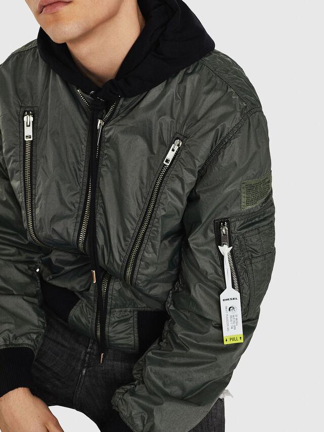 Diesel - J-TOSHIO, Dark Green - Jackets - Image 3