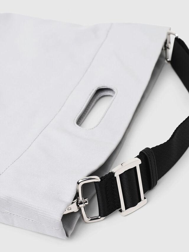 Diesel - F-LITT SHOPPER N/S, White - Shopping and Shoulder Bags - Image 3